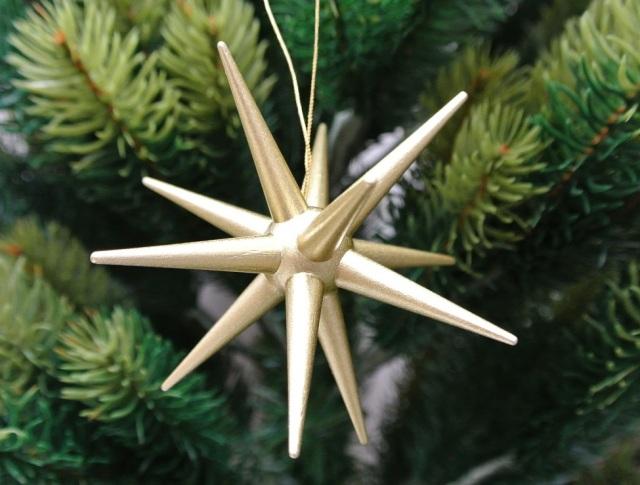 クリスマスの星,ゴールド,ドレクセル,オーナメント,ドイツ