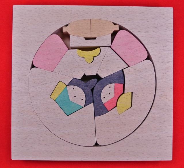 円びな,組み木のひな人形,小黒三郎,遊プラン