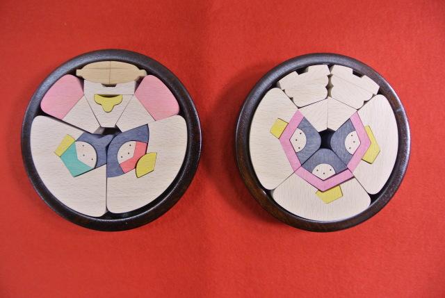 円びな五段飾り小,KH221,小黒三郎,組み木の雛人形,遊プラン