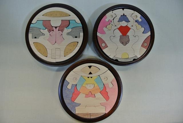 円武者三段飾り,小黒三郎,遊プラン,組木,五月人形