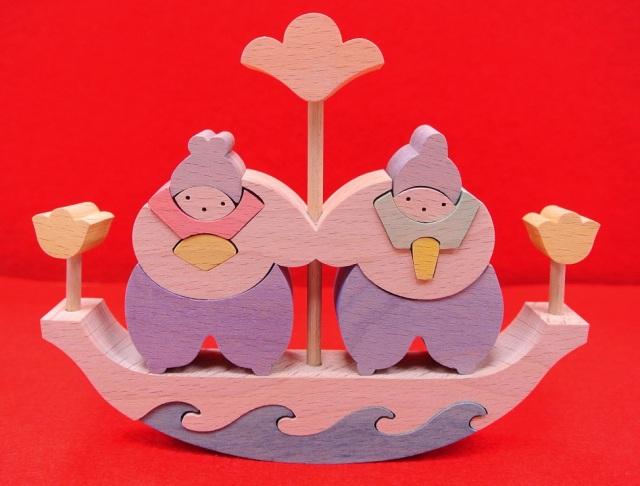 花の舟びな,組み木のお雛さま,小黒三郎