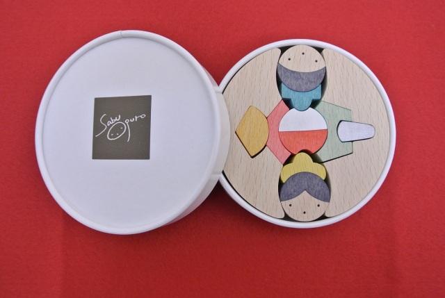 銀杏円びな三段飾り,組み木の雛人形,小黒三郎,KH410
