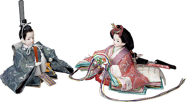 プリンセス雛人形,エンジェルハート,マリンブルー,親王飾り,収納飾り