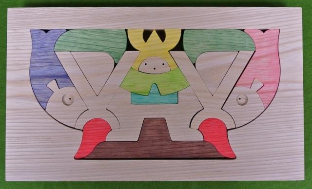さかずき武者,小黒三郎,組み木の節句人形,KK104