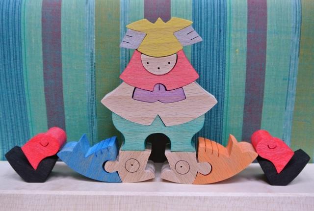組み木の節句人形,里山円武者三段飾り,小黒三郎,遊プラン,五月人形